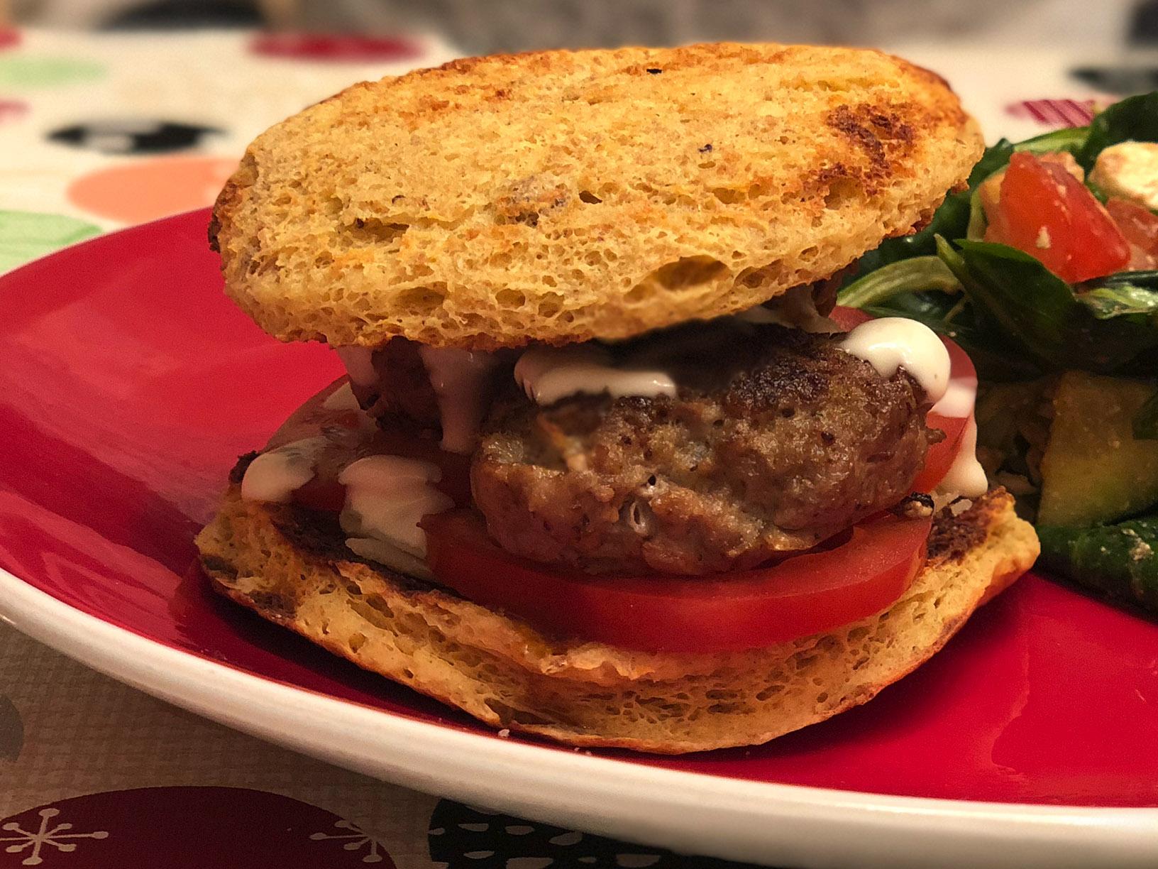 Low Carb Burgerbrötchen